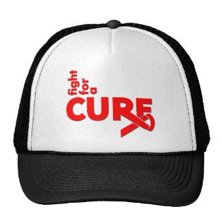 Lucha de la enfermedad cardíaca para una curación gorras de camionero