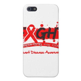 LUCHA de la enfermedad cardíaca que apoya mi causa iPhone 5 Fundas