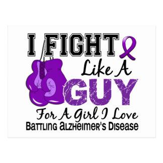 Lucha de la enfermedad de Alzheimers como un indiv Tarjeta Postal