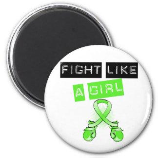 Lucha de la enfermedad de Lyme como un chica Imán Redondo 5 Cm
