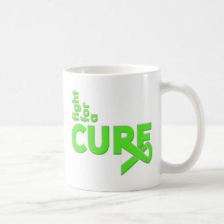 Lucha de la enfermedad de Lyme para una curación Taza Básica Blanca