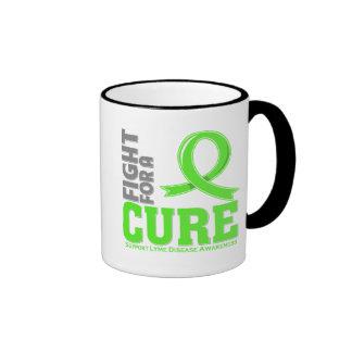 Lucha de la enfermedad de Lyme para una curación Taza A Dos Colores