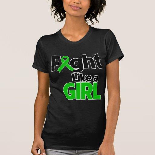 Lucha de la enfermedad de riñón como un chica camisetas