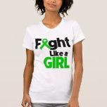 Lucha de la enfermedad de riñón como un chica camiseta