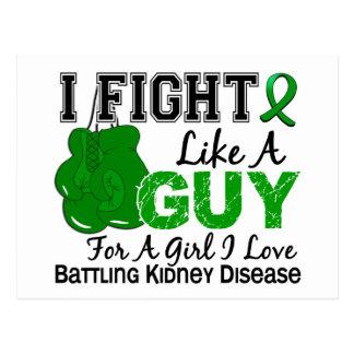 Lucha de la enfermedad de riñón como un individuo  tarjeta postal