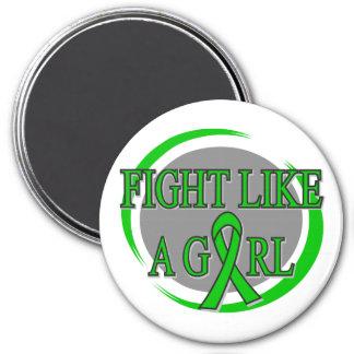 Lucha de la enfermedad de riñón como una circular  iman