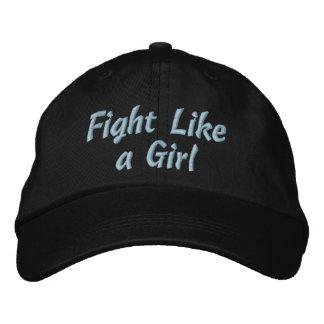 Lucha de la enfermedad de tiroides como un chica gorras de béisbol bordadas