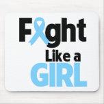 Lucha de la enfermedad de tiroides como un chica alfombrilla de ratón
