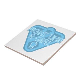 Lucha de la enfermedad de tiroides como un guante azulejo ceramica