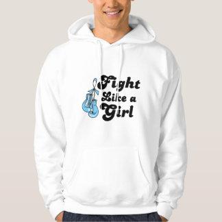 Lucha de la enfermedad de tiroides como un lema sudaderas con capucha