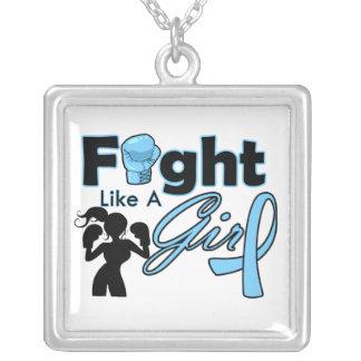 Lucha de la enfermedad de tiroides como una siluet pendientes personalizados