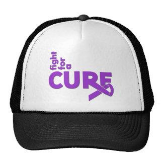 Lucha de la epilepsia para una curación gorros