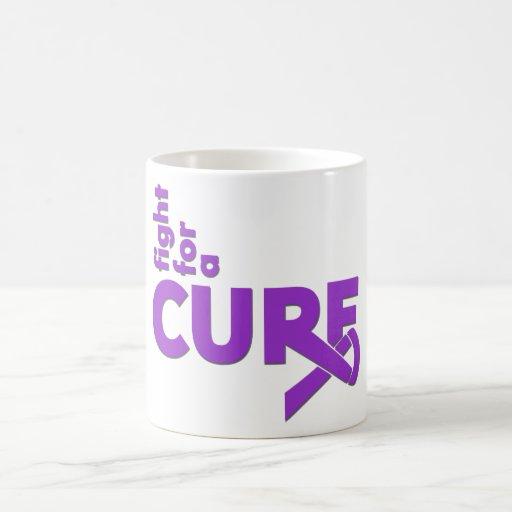 Lucha de la epilepsia para una curación taza de café