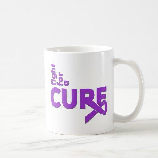 Lucha de la epilepsia para una curación tazas de café