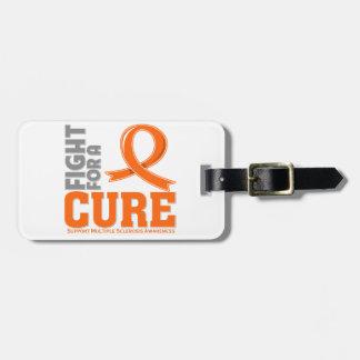 Lucha de la esclerosis múltiple para una curación etiquetas de equipaje