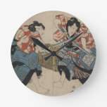 Lucha de la espada del samurai circa 1825 relojes