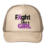 Lucha de la fibrosis quística como un chica gorro