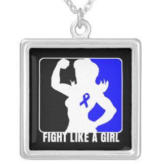Lucha de la fuerza del cáncer rectal como un chica grimpolas