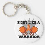Lucha de la leucemia como un guerrero llavero personalizado