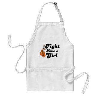 Lucha de la leucemia como un lema del chica delantales