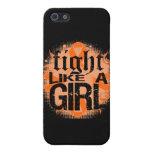 Lucha de la leucemia como una roca Ed. del chica iPhone 5 Protectores
