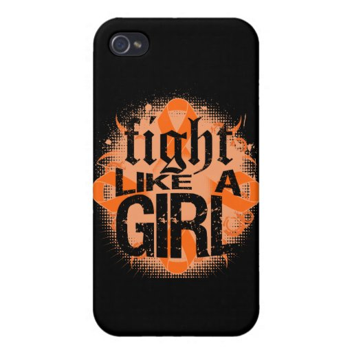 Lucha de la leucemia como una roca Ed. del chica iPhone 4 Protector