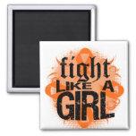 Lucha de la leucemia como una roca Ed. del chica Imán De Frigorífico