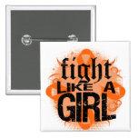 Lucha de la leucemia como una roca Ed. del chica Pin