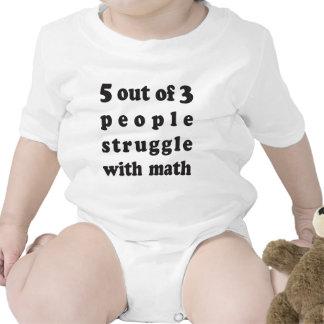 Lucha de la matemáticas traje de bebé