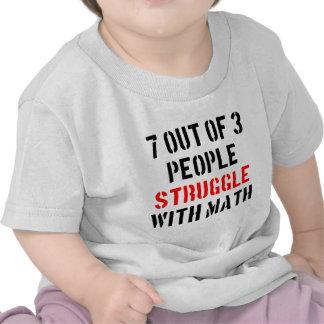 Lucha de la matemáticas camiseta