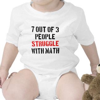 Lucha de la matemáticas trajes de bebé