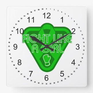 Lucha de la neurofibromatosis como un guante del c relojes de pared