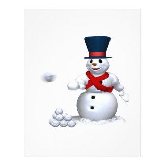 Lucha de la nieve del hombre de la nieve tarjetas informativas