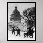 Lucha de la nieve en la capital Washington, DC 192 Poster