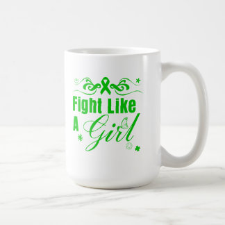 Lucha de la parálisis cerebral como un chica adorn taza básica blanca