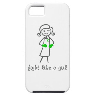 Lucha de la parálisis cerebral como un chica iPhone 5 cárcasas