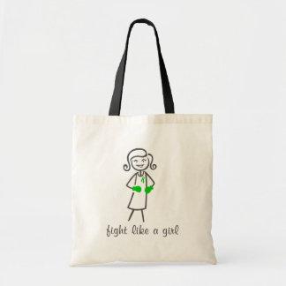 Lucha de la salud mental como un chica (retro) bolsa lienzo