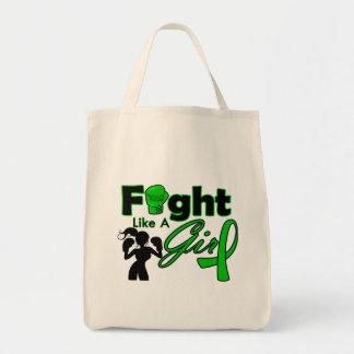 Lucha de la salud mental como una silueta del chic bolsa