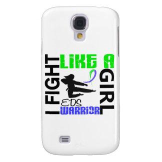 Lucha de la silueta como un chica EDS 3,2 Funda Para Galaxy S4
