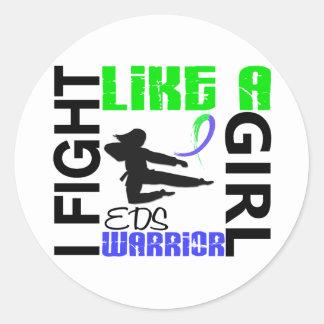Lucha de la silueta como un chica EDS 3 2 Etiquetas