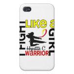 Lucha de la silueta como una hepatitis C 3,2 del c iPhone 4 Protector