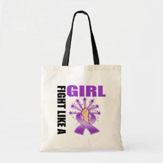 Lucha de la victoria del lupus como un chica bolsas