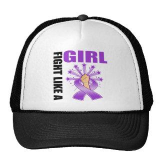 Lucha de la victoria del lupus como un chica gorras