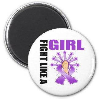 Lucha de la victoria del lupus como un chica imán para frigorifico