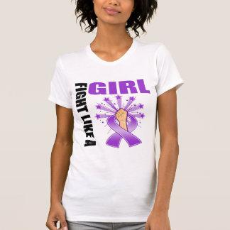 Lucha de la victoria del lupus como un chica camiseta