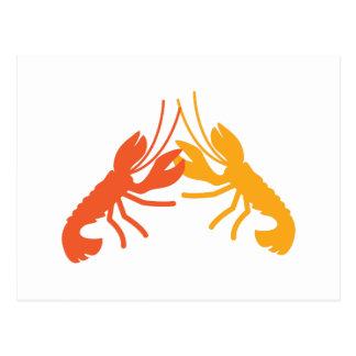 Lucha de los cangrejos de la LANGOSTA Tarjetas Postales