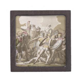 Lucha de los Griegos y de los Trojan sobre el cuer Caja De Regalo De Calidad