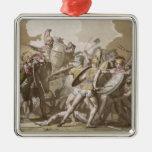 Lucha de los Griegos y de los Trojan sobre el cuer Adorno De Navidad