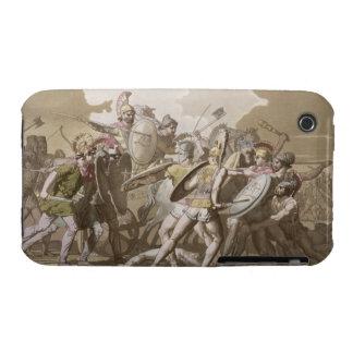 Lucha de los Griegos y de los Trojan sobre el cuer Case-Mate iPhone 3 Cobertura