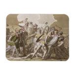 Lucha de los Griegos y de los Trojan sobre el cuer Iman Rectangular